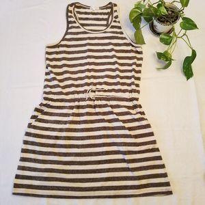 Thyme & Honey Striped Sleeveless Racerback Dress L